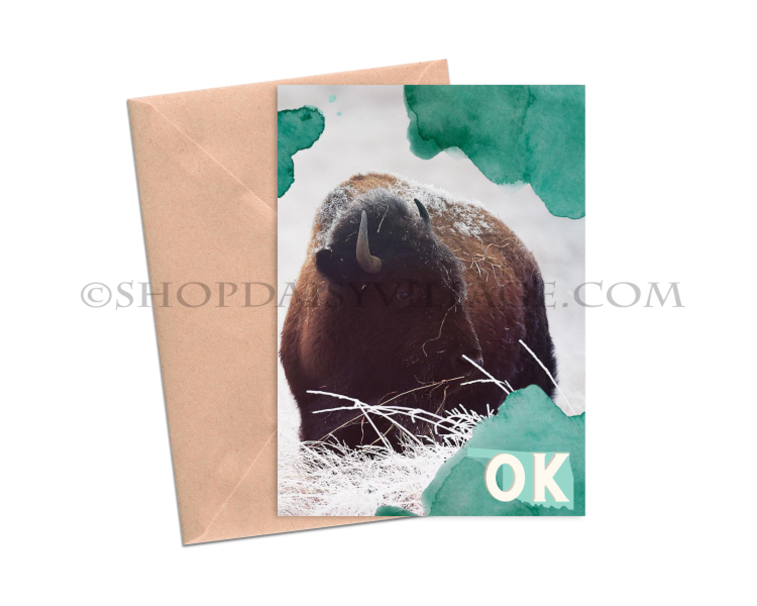 GREETINGS FROM OKLAHOMA | 5x7 GREETING CARD