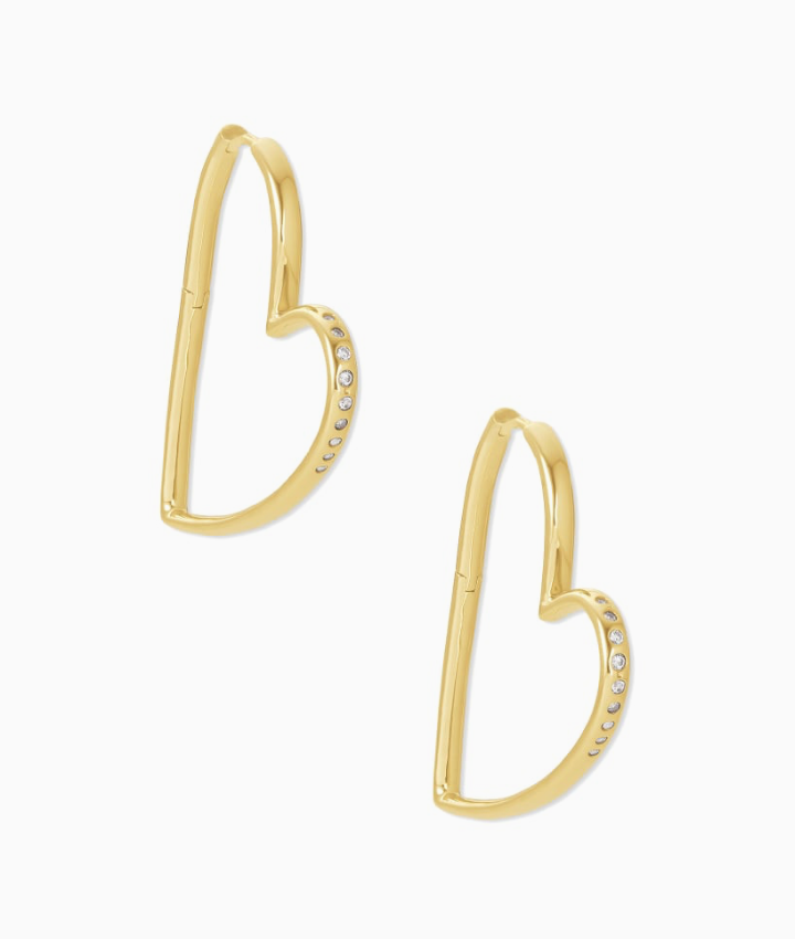 Ansley Heart Hoop Earrings | Multiple Colors