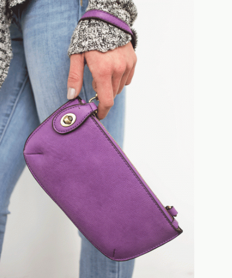 Mini Crossbody Wristlet Clutch in Multiple Colors  | Joy Susan