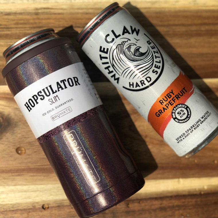 Hopsulator Slim (12 oz. Slim Cans) Multiple Colors | Glitters & Solids