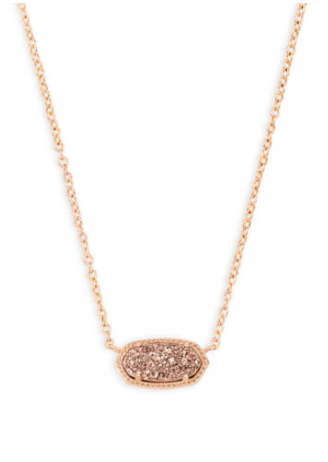 Elisa Pendent Necklace in Drusy  | Multiple Colors