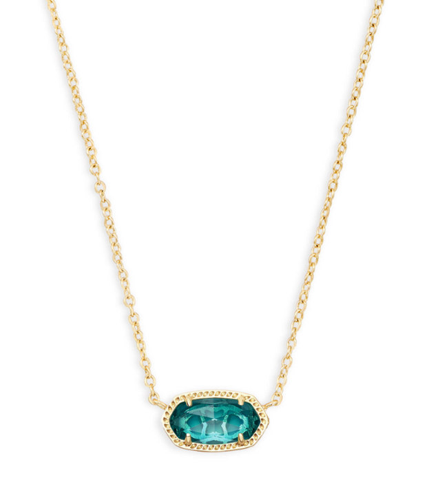 Elisa Birthstone Pendent Necklace | Multiple Colors