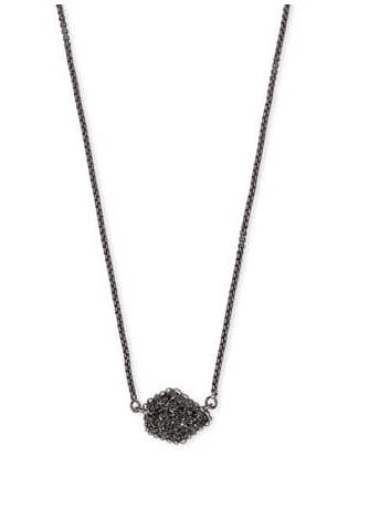 Tess Pendant Necklace In Drusy | Multiple Colors
