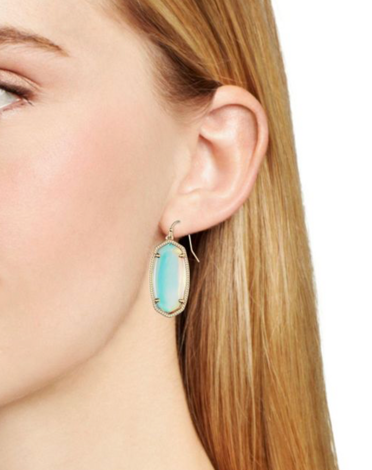 Elle Drop Earring in Dichroic Glass | Multiple Colors