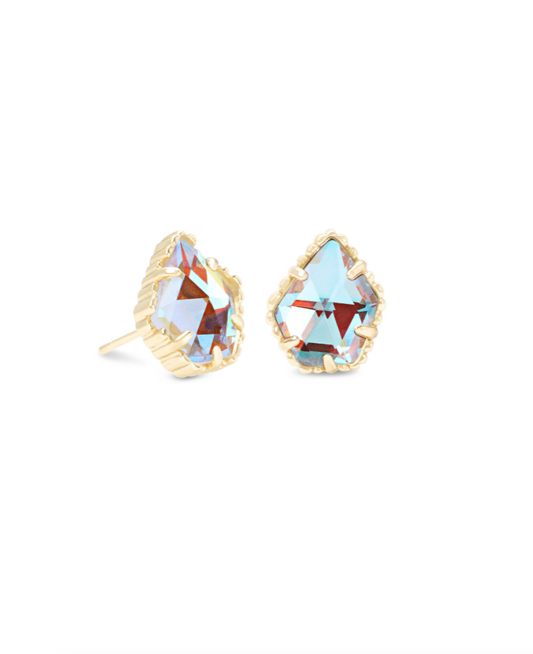 Tessa Stud Earrings in Dichroic Glass | Multiple Colors