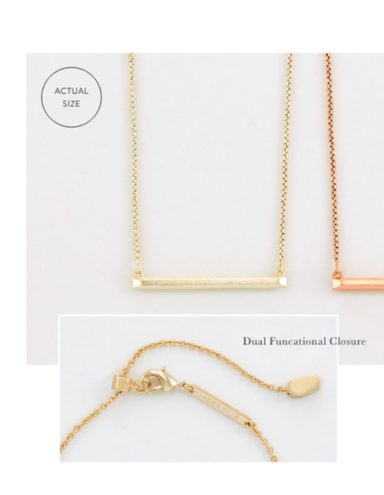 Kelsey Bar Necklace | Multiple Colors