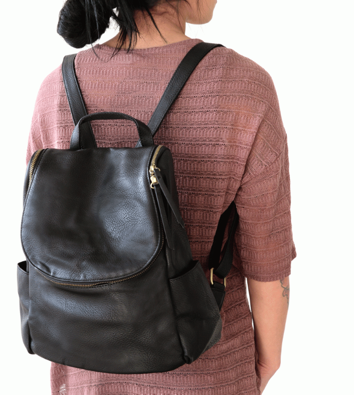 Kerri Side Pocket Backpack - Multiple Colors | Joy Susan