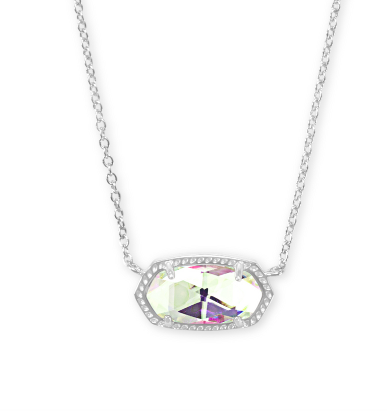 Elisa Pendent Necklace in Dichroic Glass | Multiple Colors