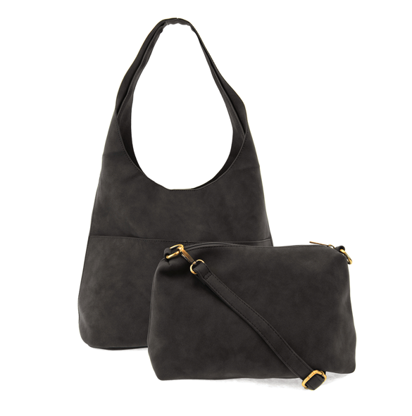 Jenny Sueded Hobo Handbag | Joy Susan