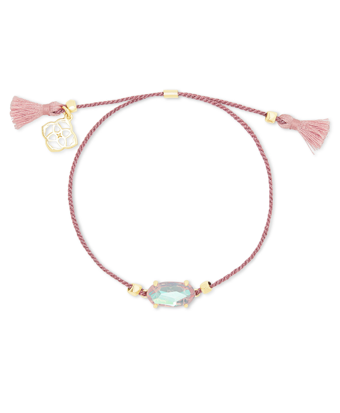 Everlyne Friendship Bracelet in Blush Dichroic | Breast Cancer Awareness Collection