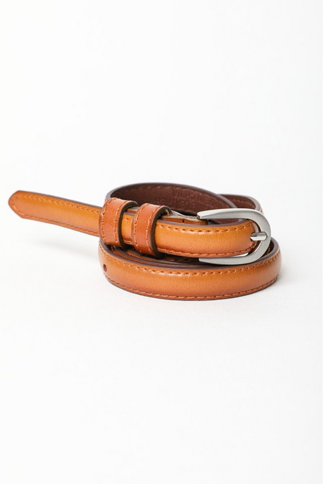 Skinny Buckle Leather Cinch Belt | Multiple Colors