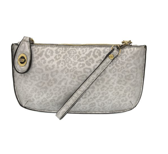 Metallic Mini Crossbody Wristlet Clutch in Leopard  | Joy Susan