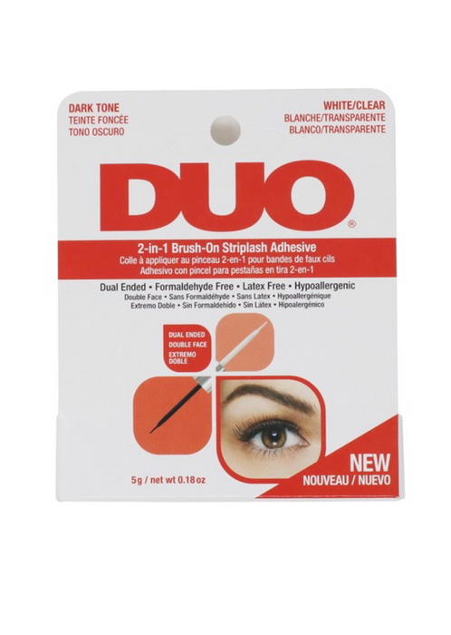 Duo 2 in 1 Brush On Lash Adhesive | CLEAR + BLACK