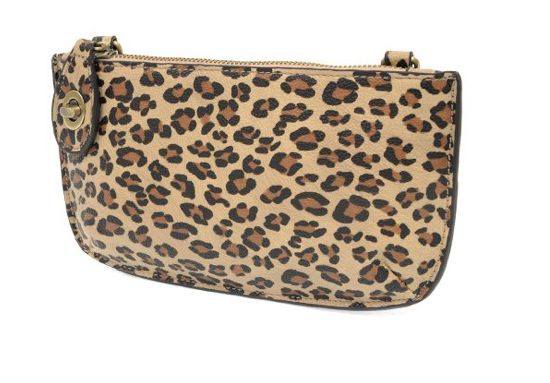 Mini Crossbody Wristlet Clutch in Leopard  | Joy Susan