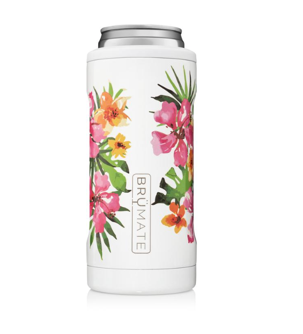 Floral Prints Hopsulator Slim (12 oz. Slim Cans) Multiple Colors | BrüMate