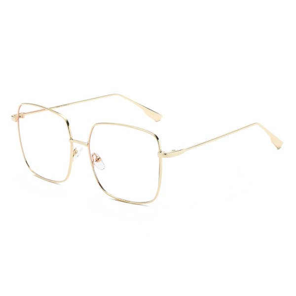 Retro Rectangle Blue Light Blocking Glasses
