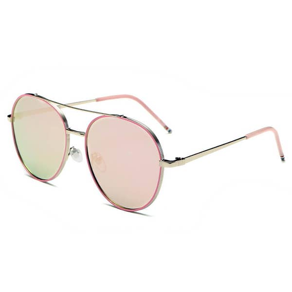 Chief Mirrored Round Aviator Sunglasses | Multiple Colors