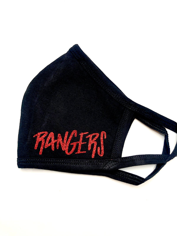 Glitter Ranger Black Mask