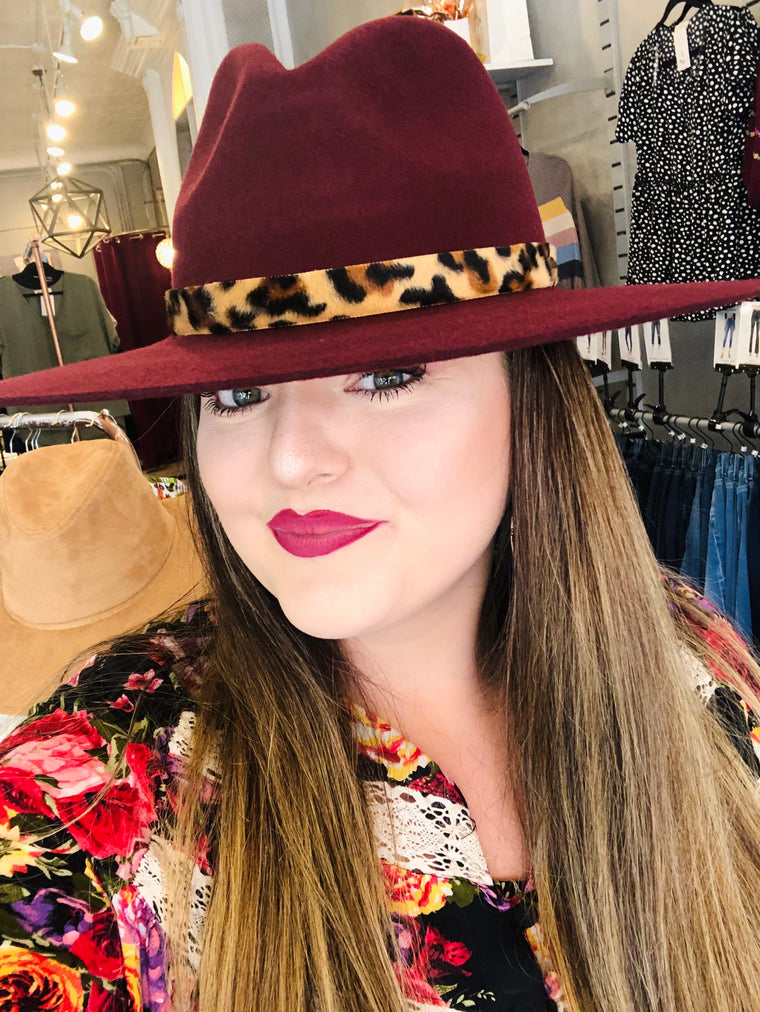 Cat Call CC Leopard Wide Brim Hat | Multiple Colors