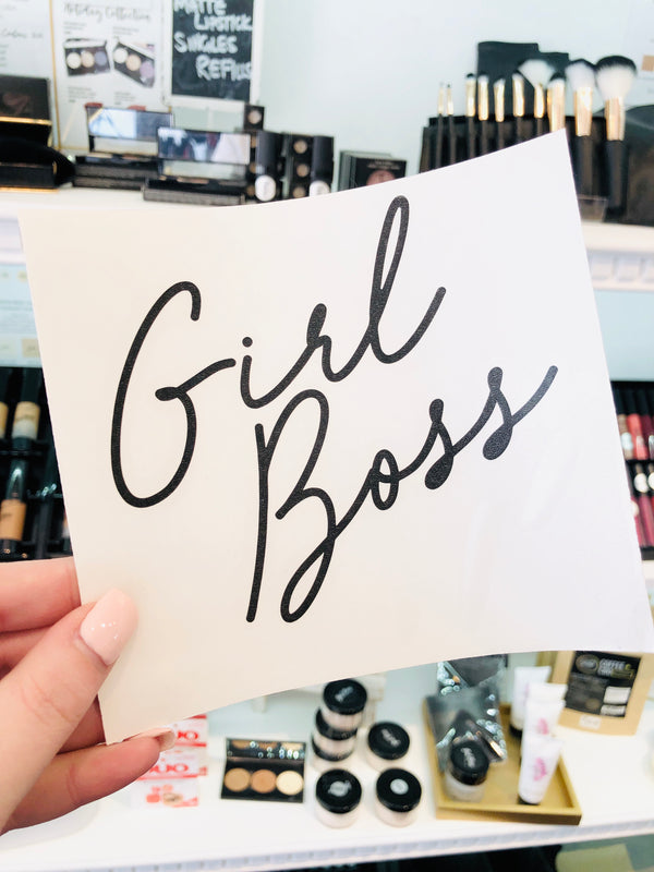 Girl Boss Transfer Sticker |  Official Girl Boss Cosmetics
