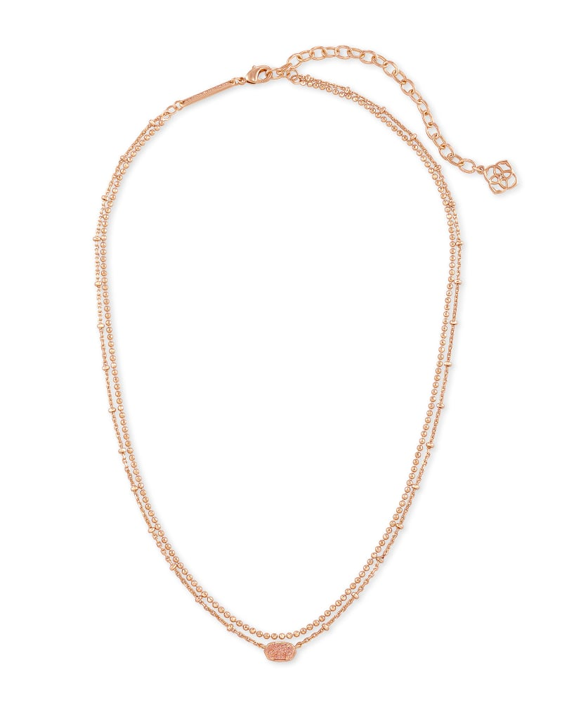 Emilie Multi Strand Drusy Necklace | Multiple Colors