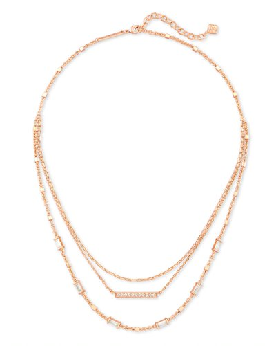 Addison Triple Strand Necklace |  Multiple Colors