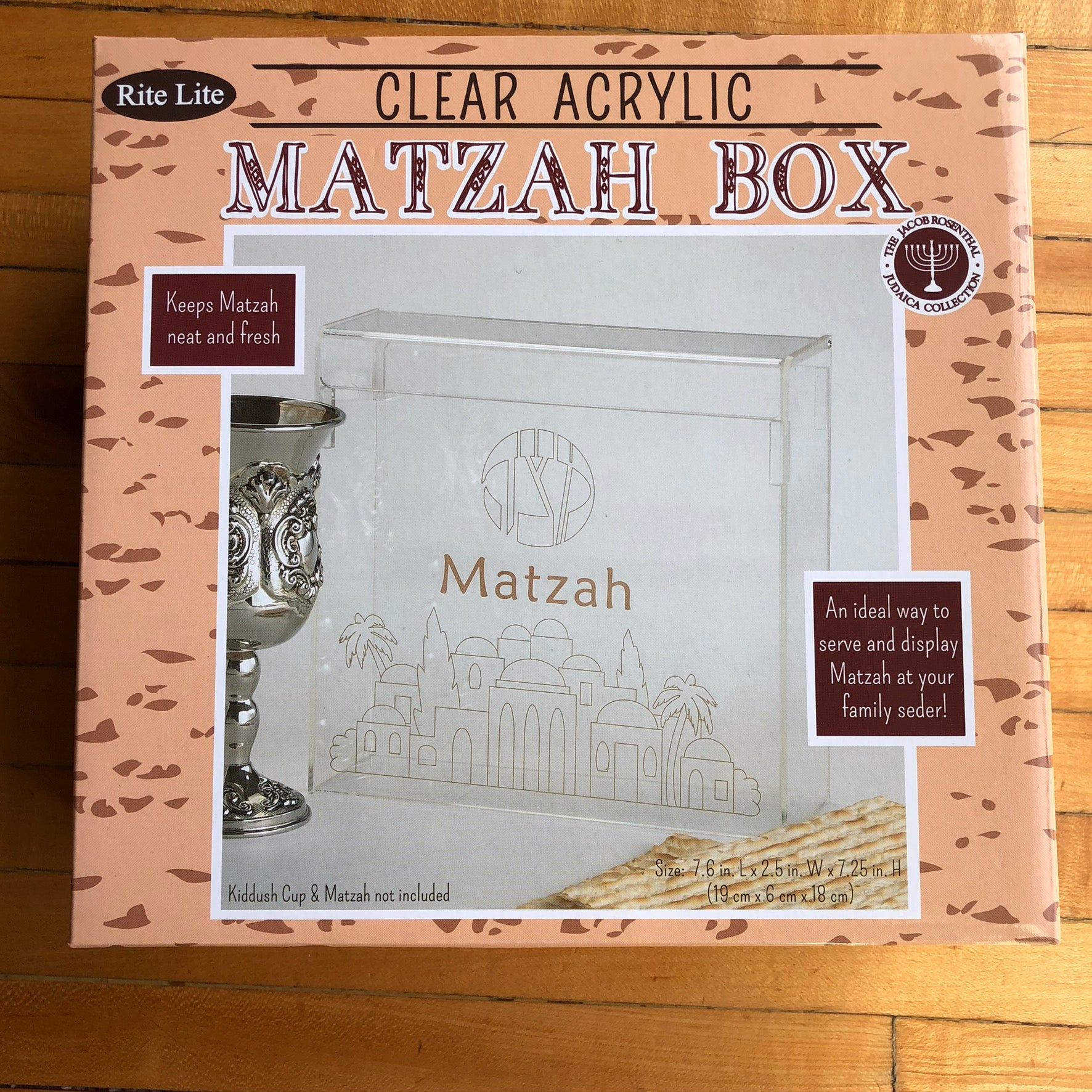 Clear Acrylic Matzah Box