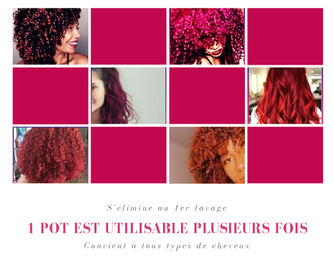 ma cire colorante temporaire coloration cheveux colorés
