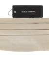 Off White Belt Silk Cummerbund