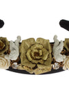 Gold Brass Roses Crystal Sicily ANGEL Tiara Headband