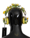 Lemon Crystal Wireless Leather Headphones