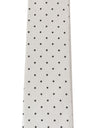 White Silk Polka Dot Slim Tie