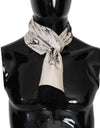 White Silk Bird Scarf