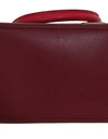 Red CAROLYN Leather Tote Bag