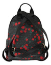 Black Red ABBEY Floral Backpack