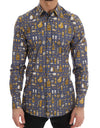 Purple Slim Fit GOLD Jazz Shirt