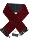 Bordeaux Velvet Silk Fringes Scarf