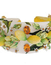 Yellow Lemon Crystal Floral Headband