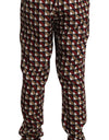 Lounge Bordeaux Beige Silk Pants