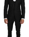 Black Wool MARTINI 3 Piece Slim Suit