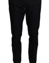 Black Cotton Dress Formal Trousers Pants