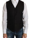 Black Silk Dress Waistcoat