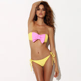 Bow Bikini in Yellow