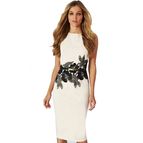 Allison Floral Belted Dress