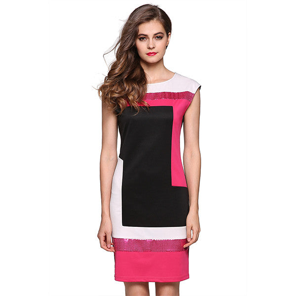 Christina Colour Block Sequin Dress
