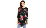 Empire-Waist Floral Tunic