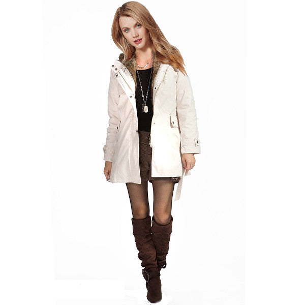 Hooded Winter Fur Jacket