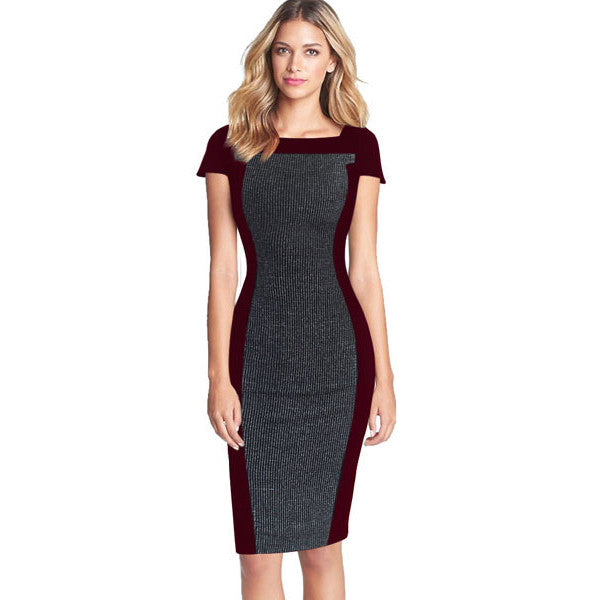 Leah Colour Block Pencil Dress