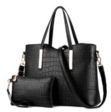 Women's Crocodile Pattern Handbag Set
