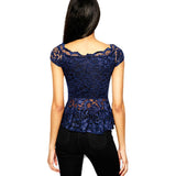Rosie Blue Peplum Top